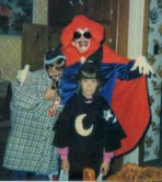 Shane, Mom and Erin at Halloween