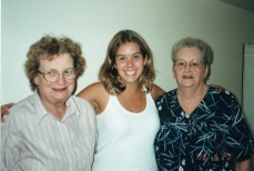 Mom on the right, my daughter in the middle and my mother-in-law on the left.