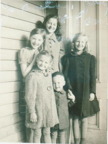 Mom (in the back) approx 12 years old.