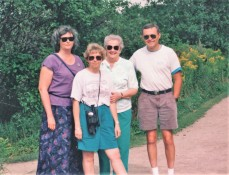 My sister, mom, my younger brother and me.