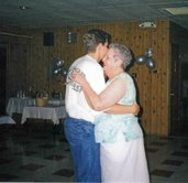 Dancing with my son at my 25th Wedding Anniversary.