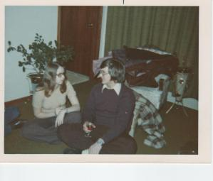 At a bank staff party probably late 1973 or early 1974