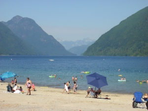 Great beach in a BC park, but I didn't swim there tht afternoon. Maybe another time.